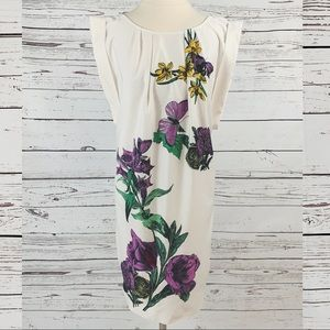 New York and Company floral white dress